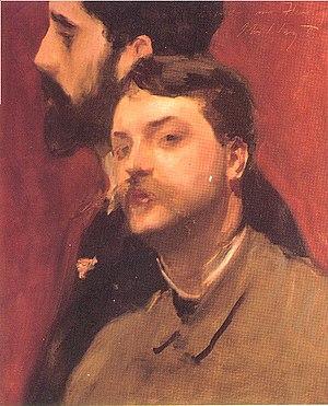 François Flameng - Francois Flameng and Paul Helleu, John Singer Sargent, 1882-85