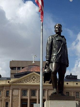 Frank Luke - Luke statue, Phoenix, Arizona, Roger Noble Burnham, sculptor, 1930