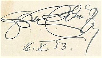 Franz Salmhofer -  Signature of Franz Salmhofer