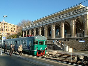 Rome–Frascati railway - A view from the platform at Frascati.
