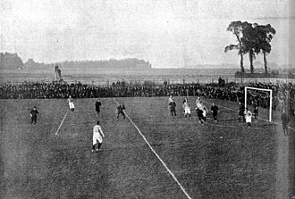 Fratton Park - Portsmouth v Ryde match at Fratton Park, 1899. North Terrace and Milton End