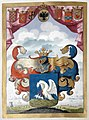 Freiherrendiplom - Babocsay 1720 - Wappen.jpg