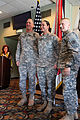 From left to right, U.S. Army Lt. Gen. Robert Brown, I Corps commanding general, Staff Sgt. Catherine Long and Command Sgt. Maj. John Troxell, I Corps senior enlisted adviser, pose for a photo March 22, 2013 130322-A-IP604-837.jpg
