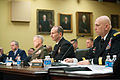 From right, Chief of Staff of the U.S. Army Gen. Raymond Odierno, Chief of Naval Operations Adm. Jonathan Greenert, Commandant of the Marine Corps Gen. James Amos and Chief of Staff of the Air Force Gen. Mark A 130305-A-AO884-047.jpg