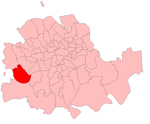 Fulham (UK Parliament constituency) - Fulham in the Metropolitan area, boundaries 1885-1918