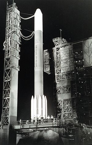 GOES 3 - GOES-C on a Delta 2914 before launch