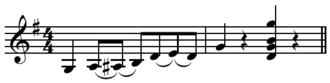 Slur (music) - Image: G run in G