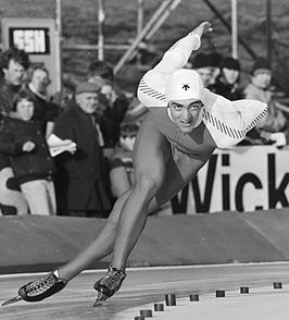 Gaétan Boucher op de WK sprint in 1982