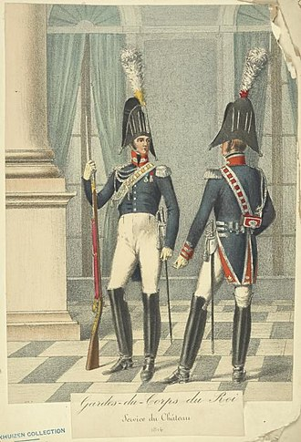Garde du Corps (France) - Soldiers of the Garde-du-Corps du Roi, ca. 1814.