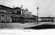 Le bâtiment voyageurs de 1857 pris en photo au début des années 1900.