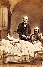 Garibaldi after being wounded on the Aspromonte Massif
