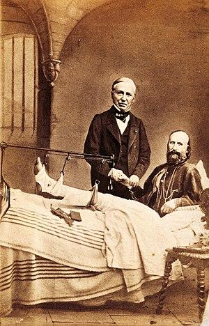 Auguste Nélaton - Nélaton with Giuseppe Garibaldi in a hospital