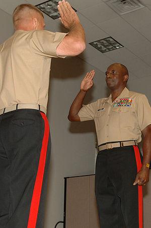 Walter E. Gaskin - MajGen Gaskin administered oath by CMC Gen Hagee, October 2005.