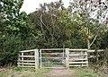 Gate into newly developed heathland - geograph.org.uk - 1018547.jpg