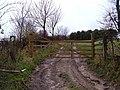 Gated Farm Track, Elloughton Wold - geograph.org.uk - 1604634.jpg