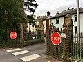 Gates of the former King Henry VIII Grammar School, Abergavenny, October 2018 (3).jpg