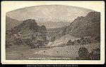 Gateway to the Garden of the Gods, Pike's Peak in the Distance, D. & R.G. Ry., Colo, C.R. Savage, Salt Lake..jpg