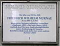 Gedenktafel Douglasstr 22 (Grunew) Friedrich Wilhelm Murnau.JPG