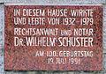 Gedenktafel Heerstr 2 Wilhelm Schuster.JPG