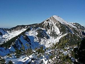 Chiemgau Alps - Geigelstein (1813 m) seen from the southern peak Breitenstein