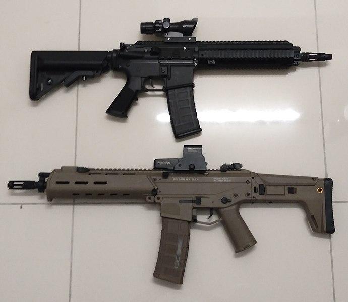 File:Gel Blaster HK416 & ACR.jpg