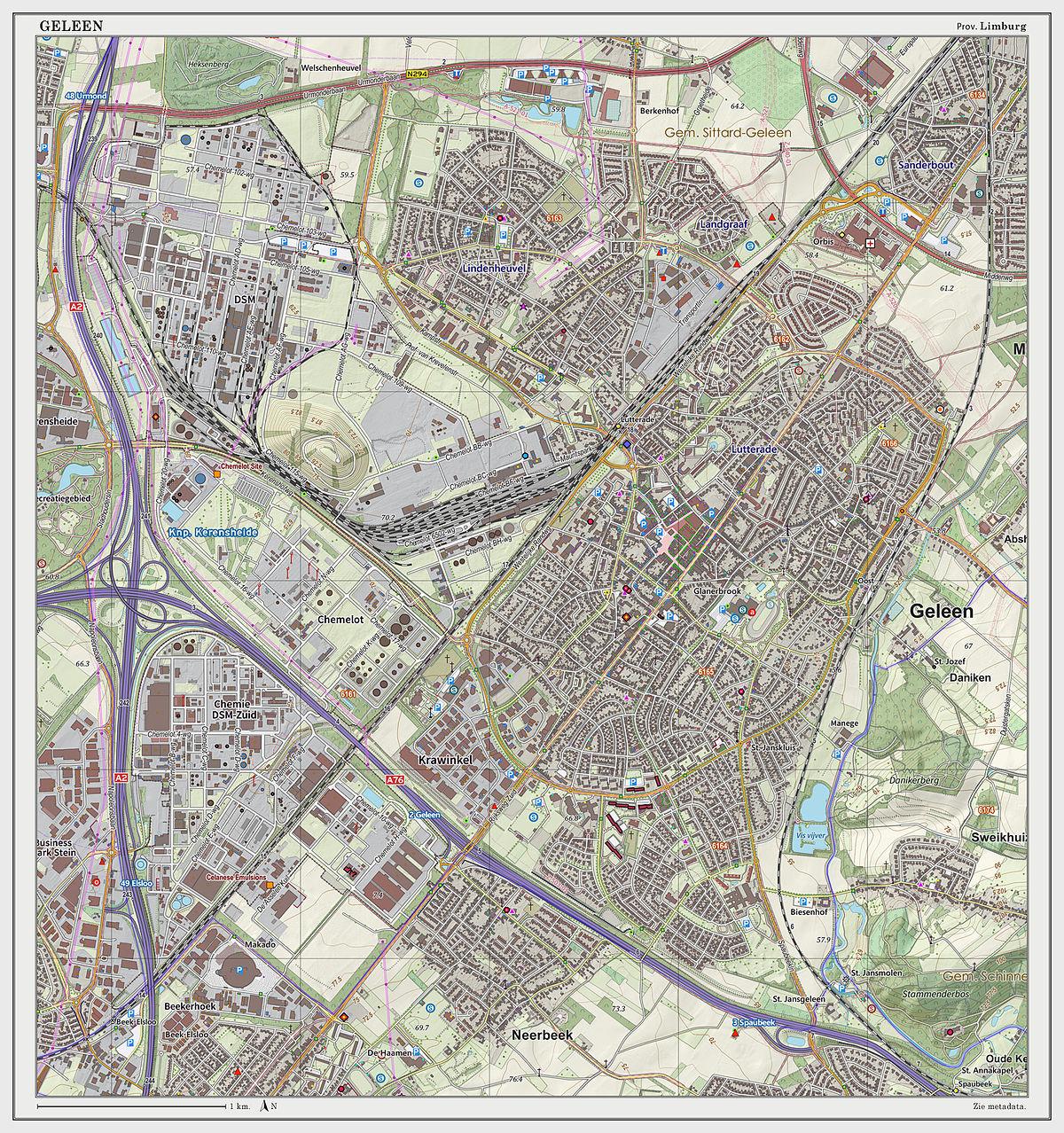Geleen Wikipedia - Geleen map