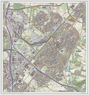 Geleen - Topographic map of Geleen, March 2014