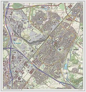 Geleen - Topographic map of Geleen, March 2014