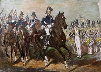 Battle of Warsaw (1831) - Polish General Staff wore navy blue uniforms reminiscent of Napoleonic-era attire. Soldiers of each regiment wore uniforms in colours of their land.