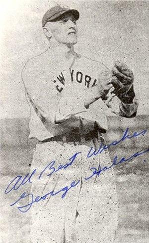 George Halas - Image: George Halas Baseball