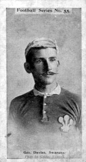 George Davies (rugby player) - Davies in Wales jersey