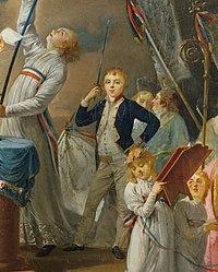 Georges Washington de La Fayette in Le serment de La Fayette a la fete de la Federation 14 July 1790 French School 18th century.jpg