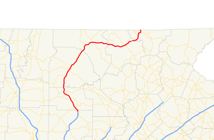 Georgia State Route 515 - Image: Georgia state route 515 map