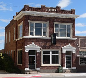 National Register of Historic Places listings in Scotts Bluff County, Nebraska - Image: Gering Courier from NW 1