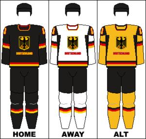 Germany women's national ice hockey team - Image: Germany national hockey team jerseys
