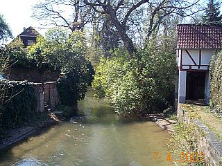 Gersprenz River in Germany