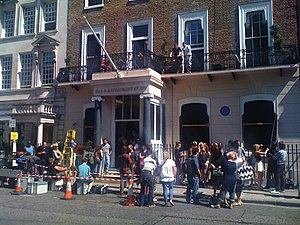 Get Him to the Greek - Filming in Cavendish Square, London.