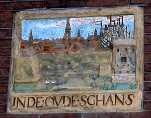 Lastage - Gable stone in a wall of the Amsterdam Museum