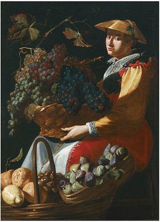 Giacomo Legi - A lady selling fruit