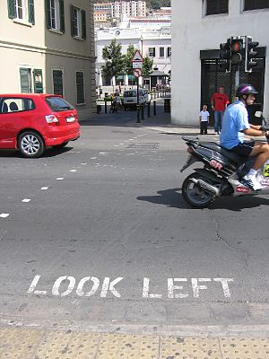 Transport in Gibraltar - Traffic drives on the right.