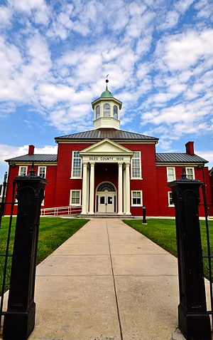 National Register of Historic Places listings in Giles County, Virginia - Image: Giles County Courthouse Front View