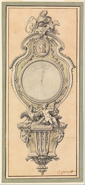 Gilles-Marie Oppenordt - Design for a clock case