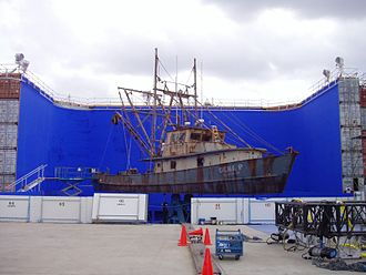 The Guardian (2006 film) - A ship located on a hydraulic gimbal used for filming