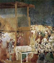 Giotto di Bondone - Legend of St Francis - 24. Canonization of St Francis - WGA09152.jpg
