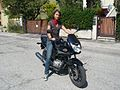 Girl on Honda CBF 125 - 02.jpg