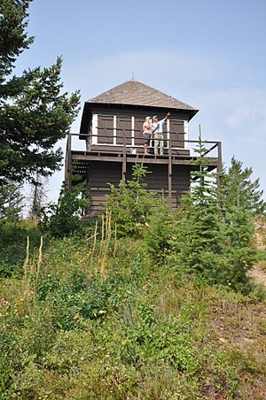 National Register of Historic Places listings in Flathead County, Montana - Image: Glacier NP Apgar Lookout Tower