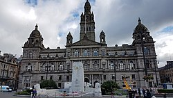 Glasgow Cenotaph and City Chambers, George Square
