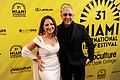 Gloria Estefan and Emilio Estefan at 2014 MIFF.jpg