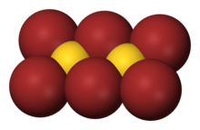 Space-filling model of gold(III) bromide