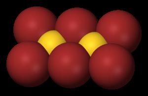 Gold(III) bromide - Image: Gold tribromide dimer 3D vd W